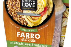 FARRO WITH QUINOA QUICK CUP WITH ARTICHOKE, LEMON & ROASTED GARLIC