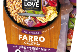 FARRO WITH QUINOA WITH GRILLED VEGETABLES & HERBS QUICK CUP