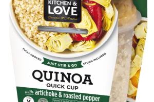 QUINOA WITH ARTICHOKE & ROASTED PEPPER QUICK CUP