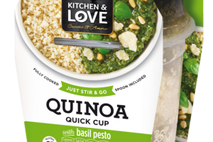 QUINOA WITH BASIL PESTO QUICK CUP
