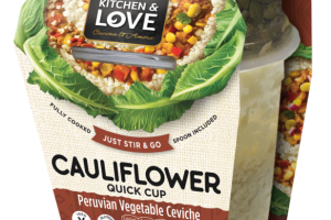 CAULIFLOWER QUICK CUP PERUVIAN VEGETABLE CEVICHE
