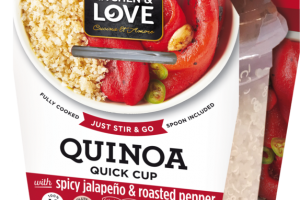 QUINOA QUICK CUP WITH SPICY JALAPENO & ROASTED PEPPER