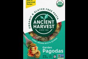 ORGANIC & GLUTEN FREE PASTA, CORN, BROWN RICE & QUINOA GARDEN PAGODAS