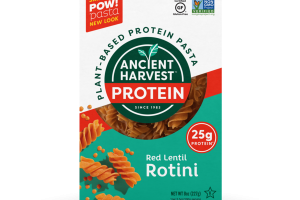 PLANT-BASED PROTEIN PASTA, RED LENTIL ROTINI