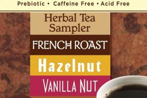 FRENCH ROAST HAZELNUT VANILLA NUT MACA CHOCOLATE ROASTED HERBAL TEA BAGS