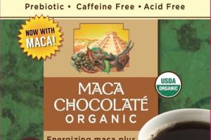 DARK ROAST ORGANIC MACA CHOCOLATE ROASTED HERBAL TEA BAGS