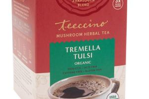 TREMELLA TULSI ORGANIC MUSHROOM HERBAL TEA BAGS