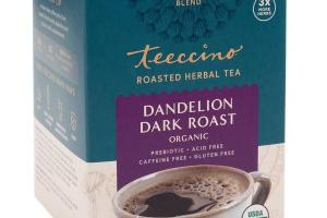ORGANIC DARK ROAST DANDELION BLEND HERBAL TEA BAGS