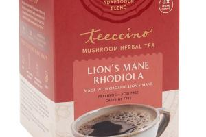 LION'S MANE RHODIOLA MUSHROOM HERBAL TEA BAGS