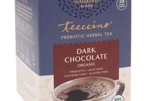DARK CHOCOLATE ORGANIC PREBIOTIC HERBAL TEA BAGS