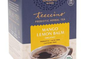 MANGO LEMON BALM ORGANIC PREBIOTIC HERBAL TEA BAGS