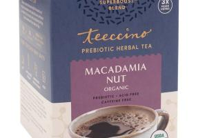 MACADAMIA NUT ORGANIC PREBIOTIC HERBAL TEA BAGS