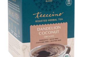 DANDELION COCONUT ORGANIC ROASTED HERBAL TEA BAGS