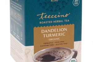 DANDELION TURMERIC ORGANIC ROASTED HERBAL TEA BAGS