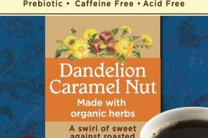 DANDELION CARAMEL NUT ROASTED HERBAL TEA BAGS