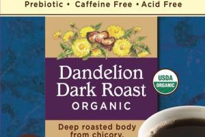 DARK ROAST DANDELION ORGANIC ROASTED HERBAL TEA BAGS