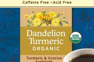 ORGANIC DANDELION TURMERIC ROASTED HERBAL TEA BAGS