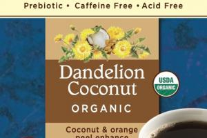 COCONUT & ORANGE PEEL ENHANCE ROASTED DANDELION HERBAL TEA