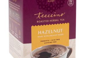 HAZELNUT ROASTED HERBAL TEA BAGS
