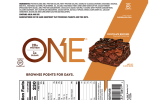 CHOCOLATE BROWNIE FLAVORED PROTEIN BAR