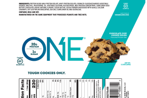 CHOCOLATE CHIP COOKIE DOUGH FLAVORED PROTEIN BAR