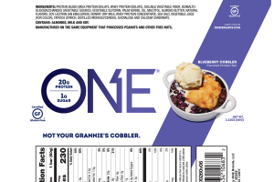 BLUEBERRY COBBLER FLAVORED PROTEIN BAR