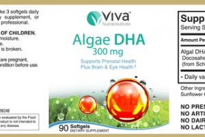 ALGAE DHA 300 MG DIETARY SUPPLEMENT SOFTGELS