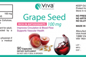 GRAPE SEED 100 MG RICH IN ANTIOXIDANTS IMPROVES CIRCULATION & BLOOD FLOW SUPPORTS VASCULAR HEALTH DIETARY SUPPLEMENT CAPSULES