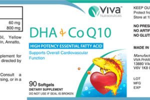 DHA+CO Q10 HIGH POTENCY ESSENTIAL FATTY ACID SUPPORTS OVERALL CARDIOVASCULAR FUNCTION DIETARY SUPPLEMENT SOFTGELS