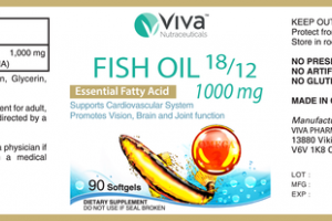 FISH OIL 18/12 1000 MG ESSENTIAL FATTY ACID SUPPORTS CARDIOVASCULAR SYSTEM PROMOTES VISION, BRAIN AND JOINT FUNCTION DIETARY SUPPLEMENT SOFTGELS
