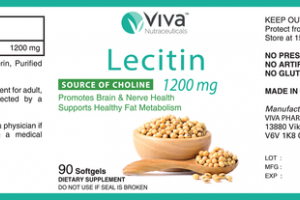LECITIN 1200 MG DIETARY SUPPLEMENT SOFTGELS