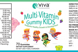 MULTI-VITAMIN GUMMY KIDS DIETARY SUPPLEMENT GUMMIES