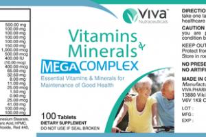 VITAMINS MINERALS MEGA COMPLEX TABLETS