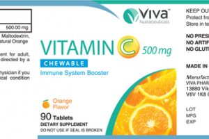 VITAMIN C 500 MG CHEWABLE IMMUNE SYSTEM BOOSTER DIETARY SUPPLEMENT TABLETS