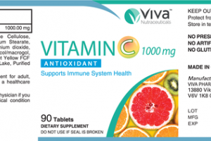 VITAMIN C 1000 MG ANTIOXIDANT DIETARY SUPPLEMENT TABLETS