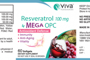 RESVERATROL 100 MG MEGA OPC ANTIOXIDANT DEFENSE DIETARY SUPPLEMENT SOFTGELS