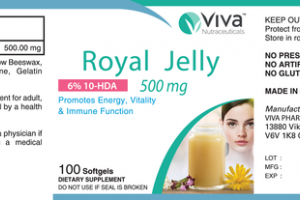 6% 10-HDA 500MG ROYAL JELLY PROMOTES ENERGY, VITALITY & IMMUNE FUNCTION DIETARY SUPPLEMENT SOFTGELS