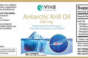 ANTARCTIC KRILL OIL 500 MG DIETARY SUPPLEMENT SOFTGELS