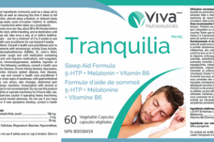 TRANQUILIA SLEEP AID FORMULA 5-HTP + MELATONIN + VITAMIN B6 VEGETABLE CAPSULES