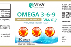 OMEGA 3-6-9 1200 MG CARDIOVASCULAR SUPPORT DIETARY SUPPLEMENT SOFTGELS