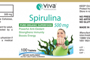 SPIRULINA 500 MG PURE ORGANIC SUPERFOOD DIETARY SUPPLEMENT TABLETS
