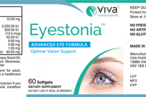 EYESTONIA ADVANCED EYE FORMULA OPTIMAL VISION SUPPORT DIETARY SUPPLEMENT SOFTGELS