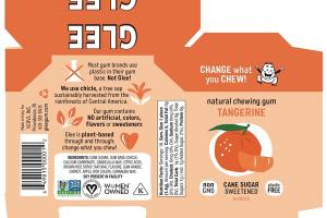 TANGERINE NATURAL CHEWING GUM