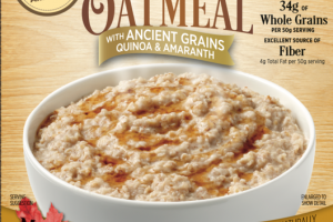 MAPLE MULTIGRAIN MUFFIN INSTANT OATMEAL WITH ANCIENT GRAINS QUINOA & AMARANTH