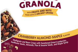 CRANBERRY ALMOND MAPLE FLAVOR GRANOLA