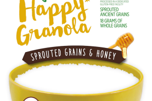 SPROUTED GRAINS & HONEY ORGANIC HAPPY GRANOLA