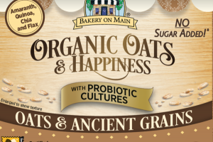 OATS & ANCIENT GRAINS ORGANIC OATS & HAPPINESS OATMEAL CUP WITH PROBIOTICS CULTURES