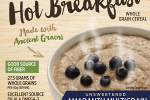 UNSWEETENED AMARANTH MULTIGRAIN ORGANIC CREAMY HOT BREAKFAST WHOLE GRAIN CEREAL