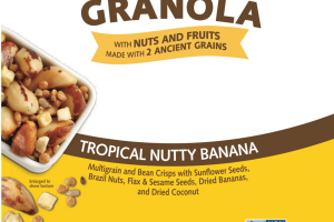 GRANOLA TROPICAL NUTTY BANANA