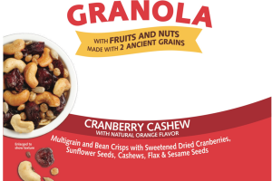 CRANBERRY CASHEW WITH NATURAL ORANGE GLUTEN-FREE GRANOLA